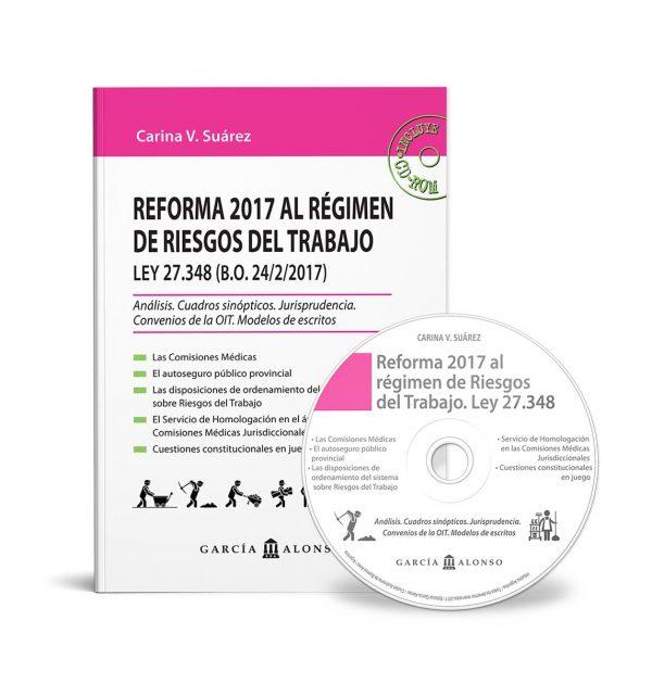 tapa de libro Reforma 2017 al sistema de Riesgos del Trabajo - Ley 27348