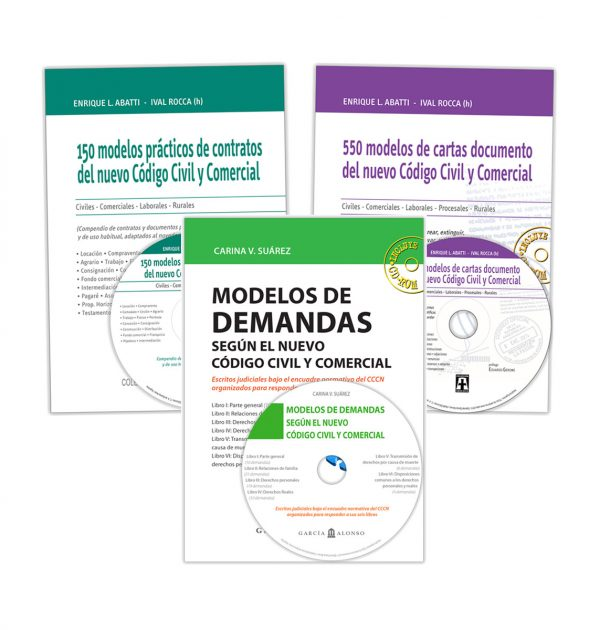 "Pack ""Demandas, contratos y cartas documento"""