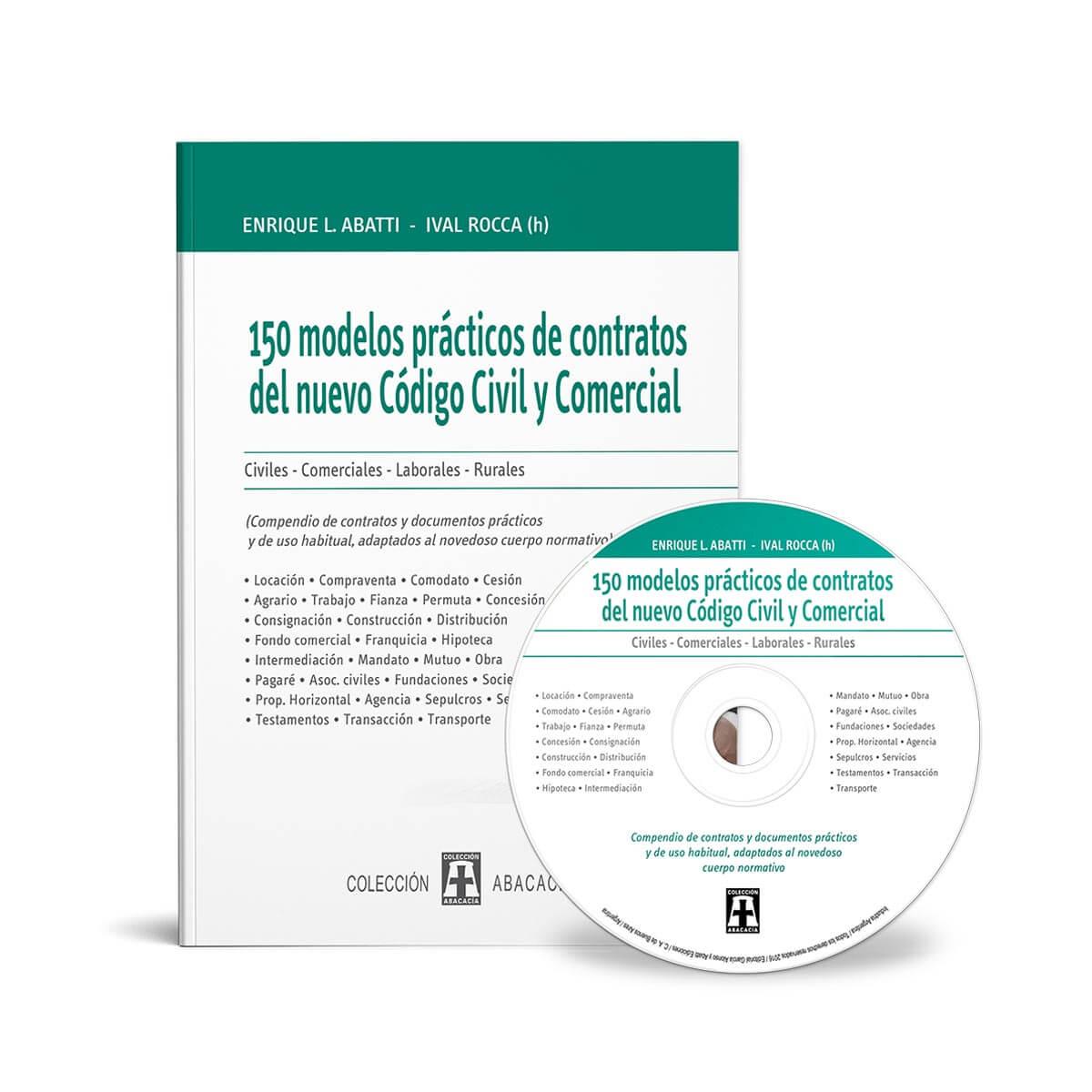 150 Modelos De Contratos Seg N El Nuevo C Digo Civil Y Comercial # Codigo Civil Muebles E Inmuebles