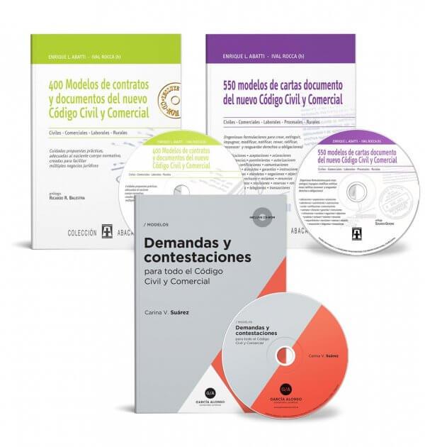 MegaPack Modelos: Demandas, contestaciones, contratos y cartas documento. Abatti, Rocca, Suárez