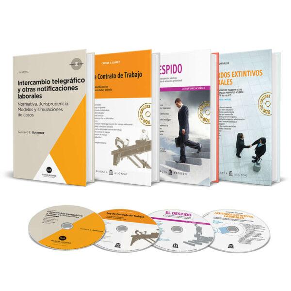 Pack Laboral 2 / Editorial García Alonso / 4 libros + 4 CDROM