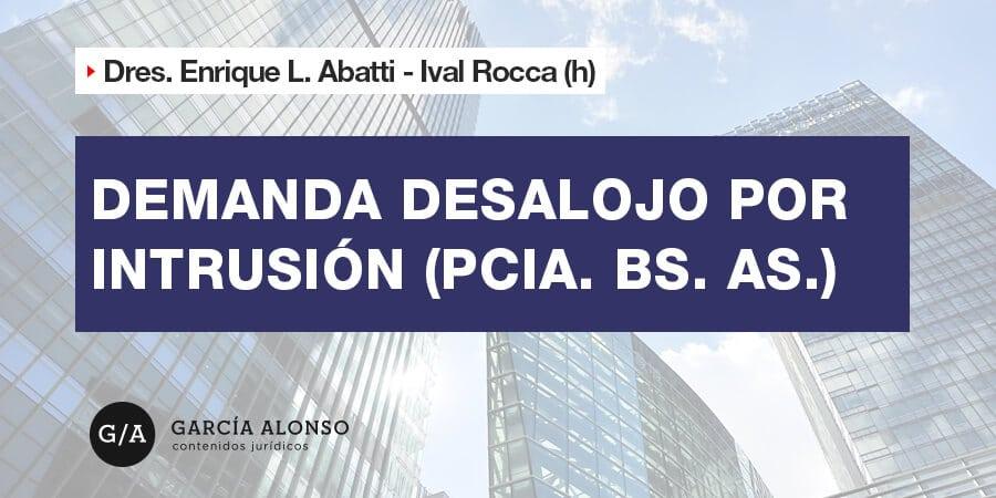 Modelo demanda desalojo por intrusion Provincia Buenos Aires